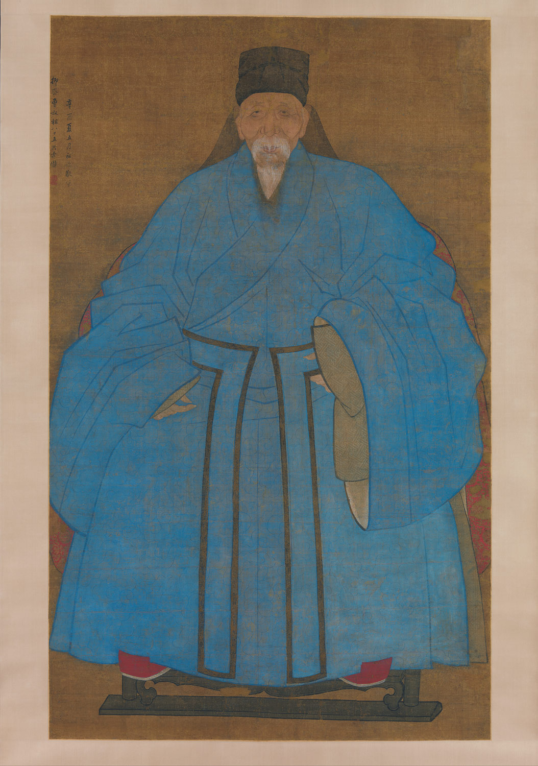 Portrait of the Artists Great Grand Uncle Yizhai at the Age of Eighty-Five