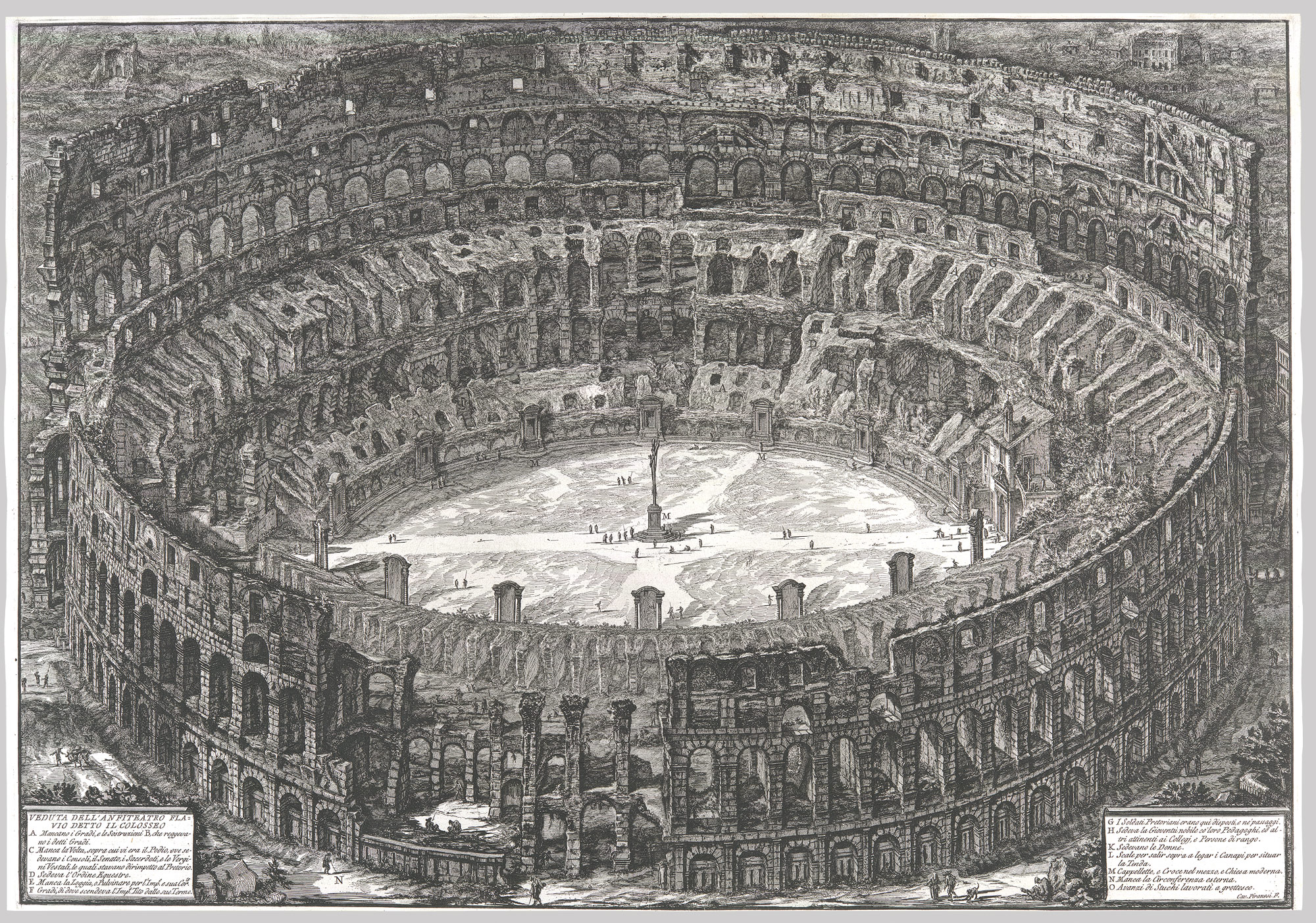 Veduta dellAnfiteatro Flavio detto il Colosseo, from: Vedute di Roma (Views of Rome)