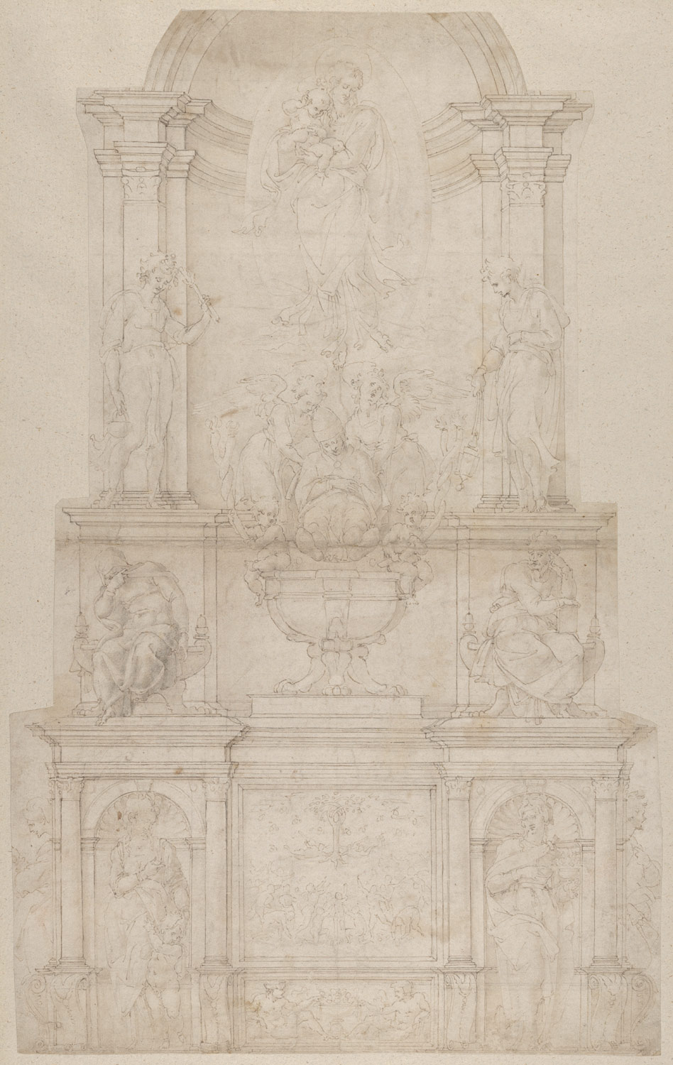 design for the tomb of pope julius ii della rovere michelangelo  design for the tomb of pope julius ii della rovere