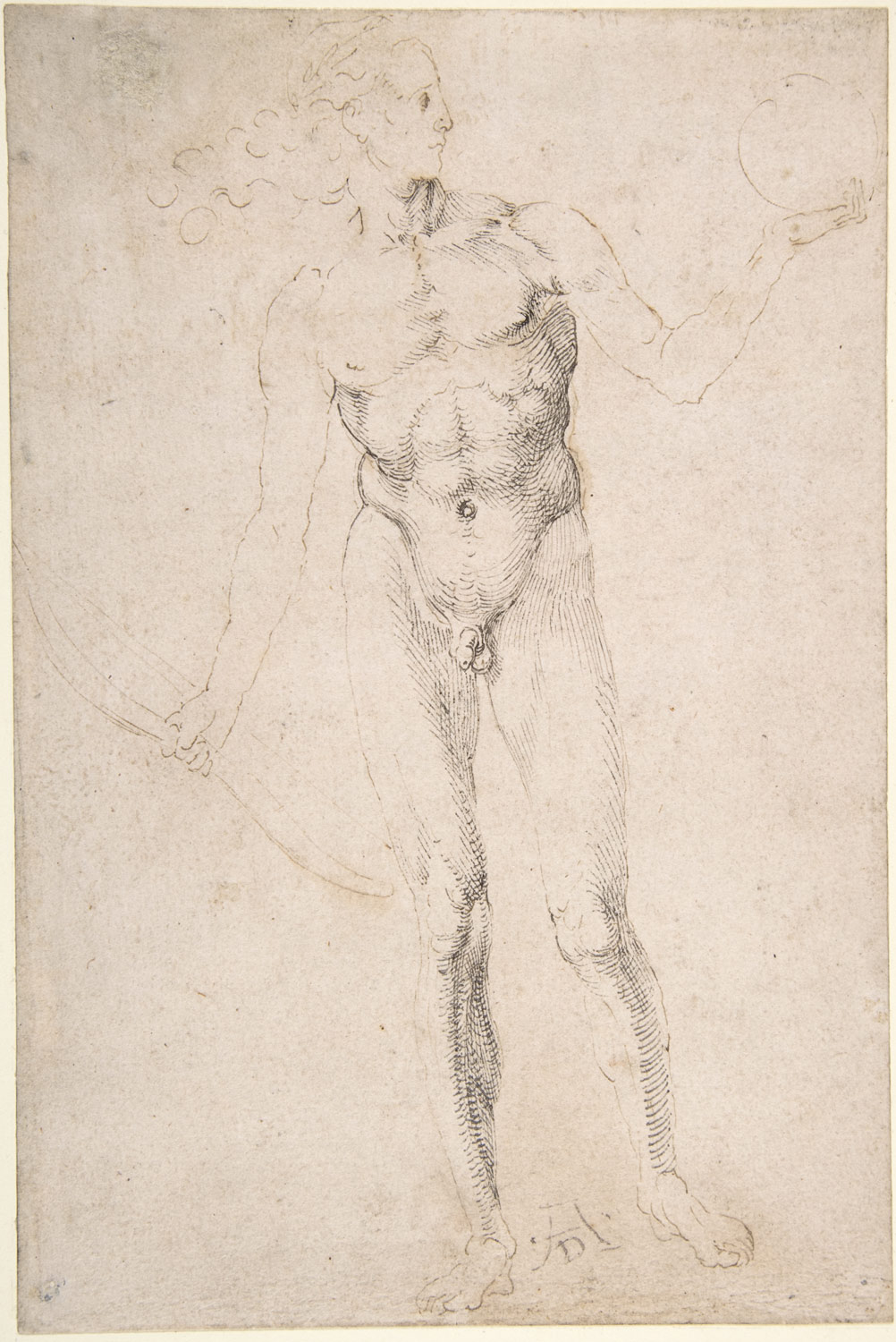 Standing Male Nude Holding a Bow (Poynter Apollo)