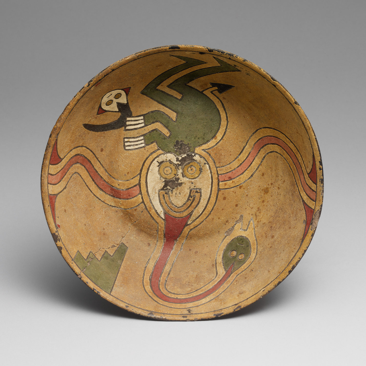 Rattle Bowl, Trophy-Head Deity