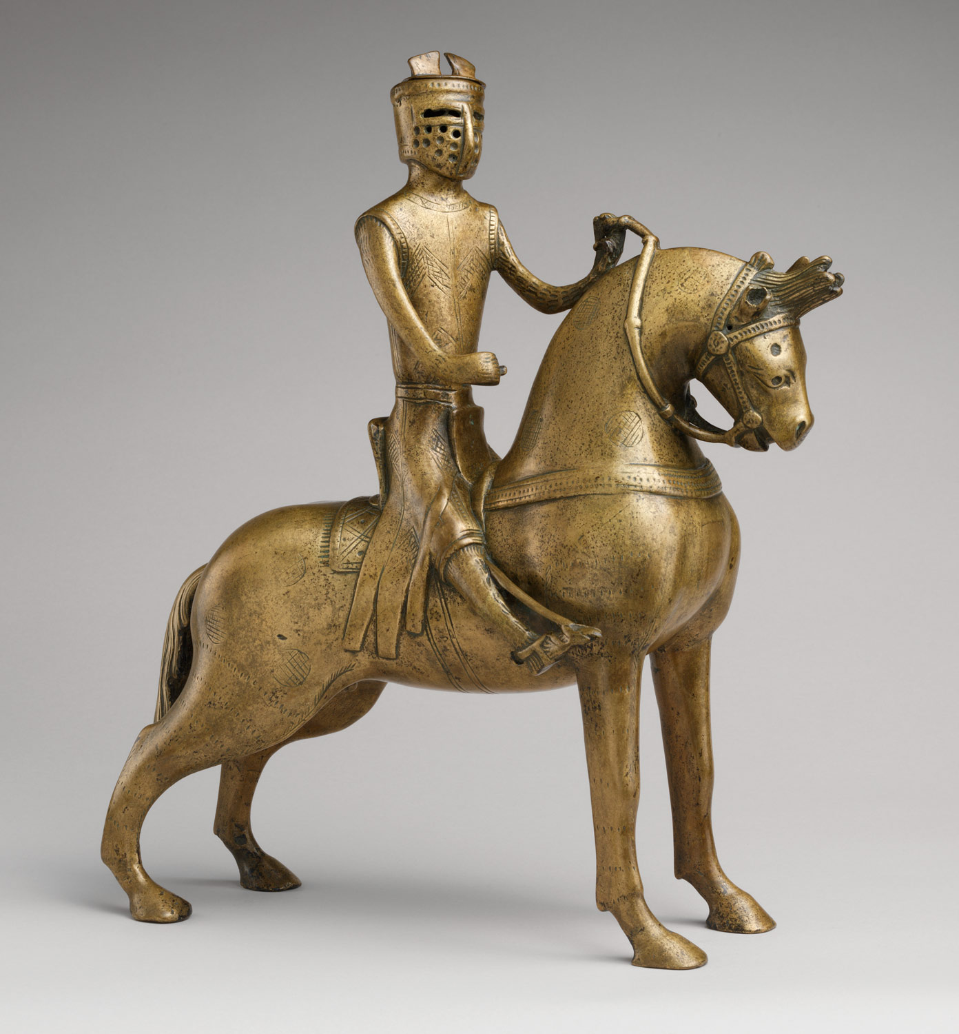 Aquamanile in the Form of a Knight on Horseback