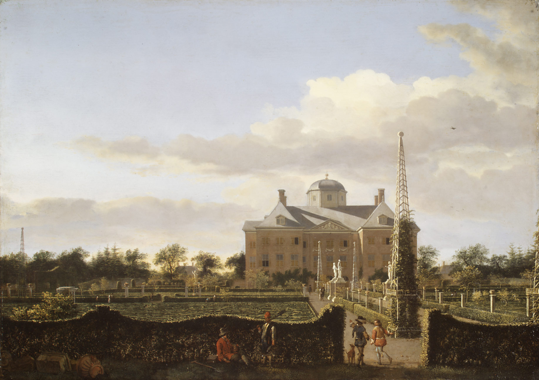 The Huis ten Bosch at The Hague and Its Formal Garden (View from the South)