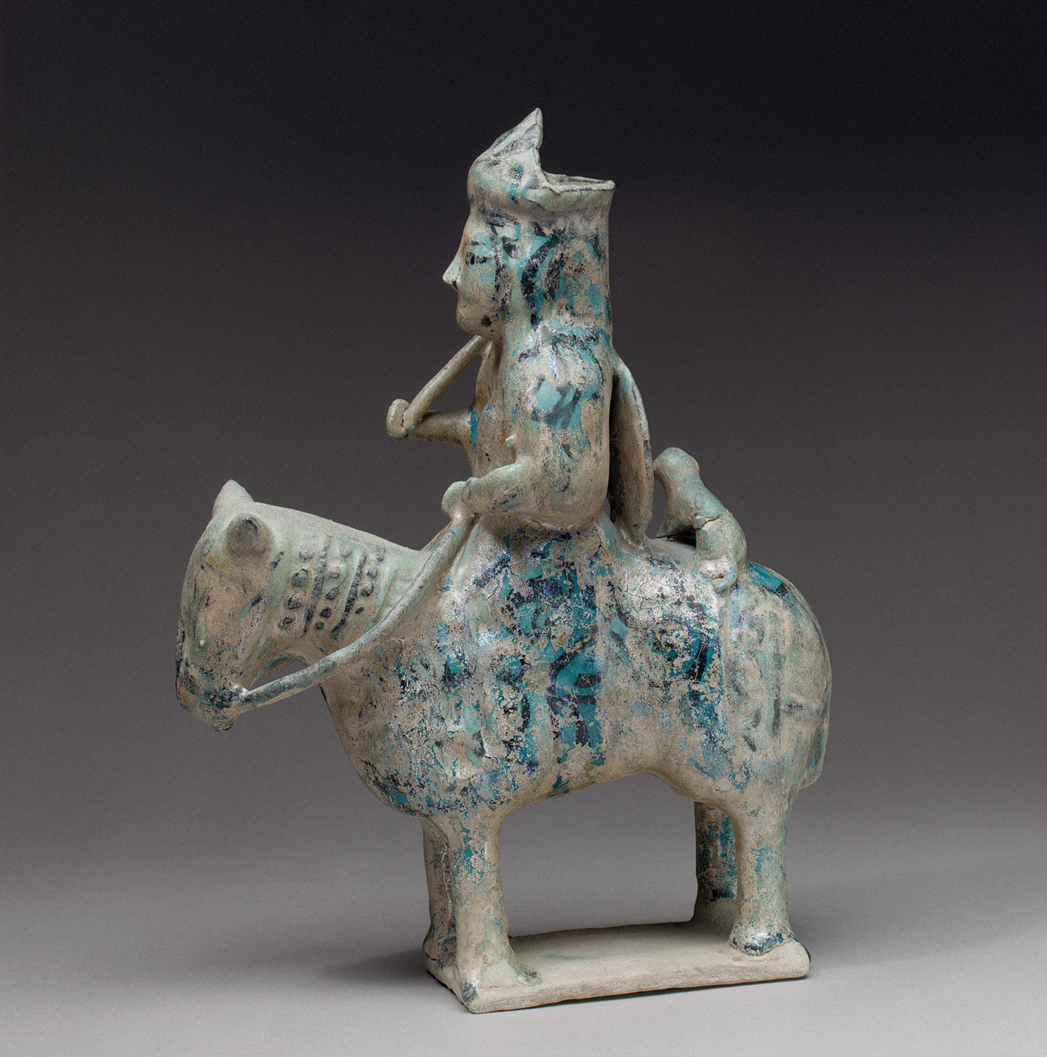 Molded Horse and Rider with Cheetah