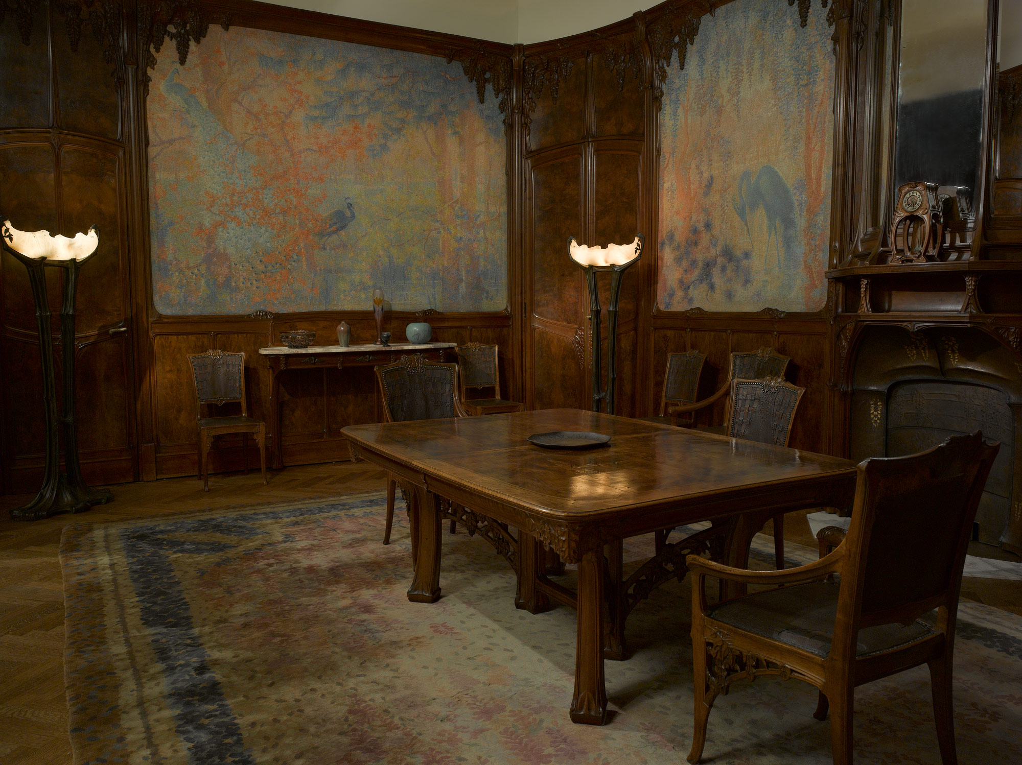 wisteria room | lucien lévy-dhurmer | 66.244.1-.25 | work of art