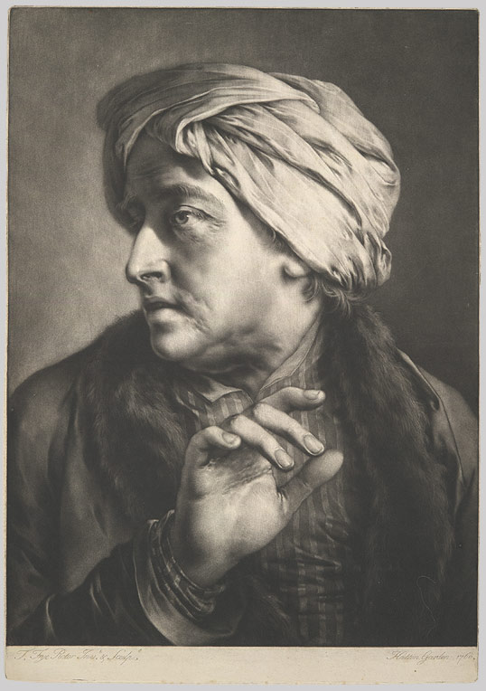 Head of a Man Wearing a Turban (from Life-Sized Heads, First Series)