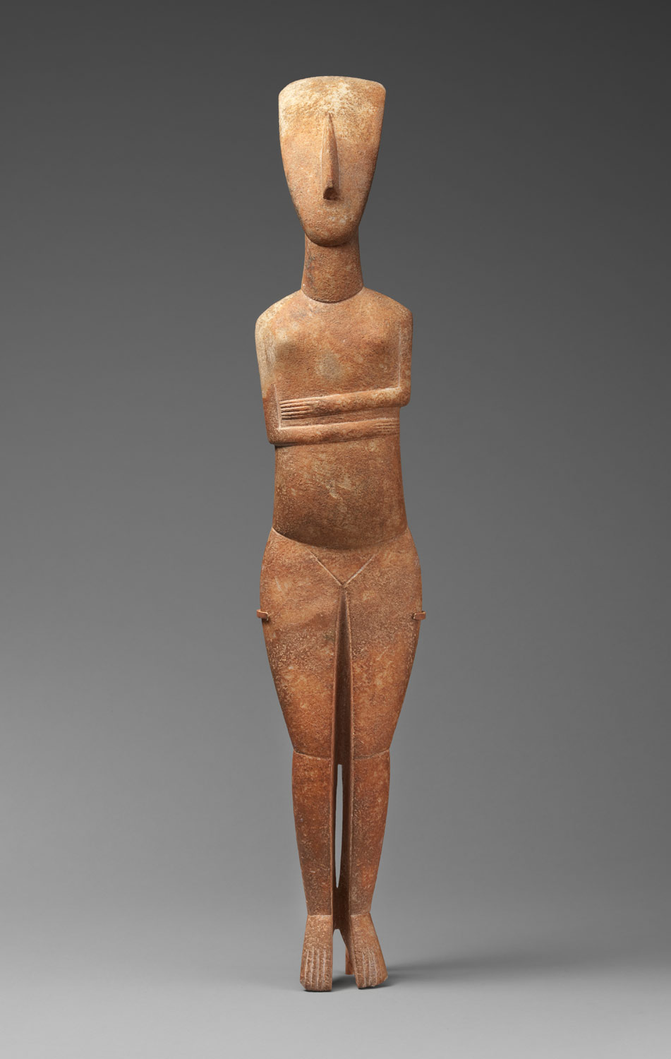 Marble female figure; cycladic figurines
