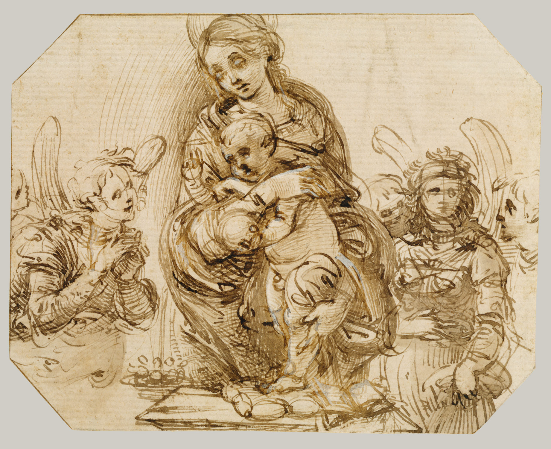 Virgin and Child Attended by Angels