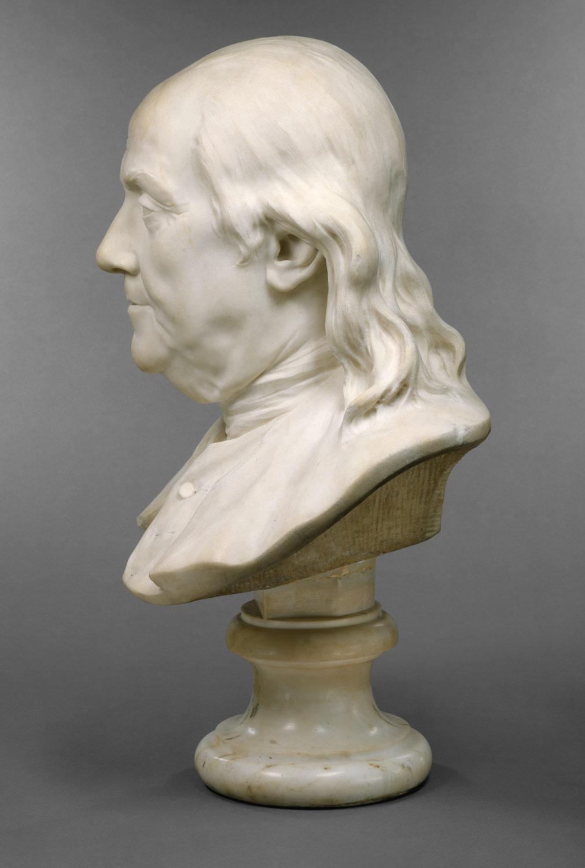 benjamin franklin jean antoine houdon work benjamin franklin 1706 1790