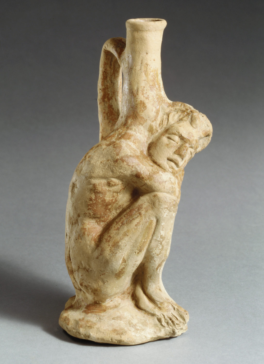Terracotta vase in the form of a sleeping African (known as Ethiopian) boy