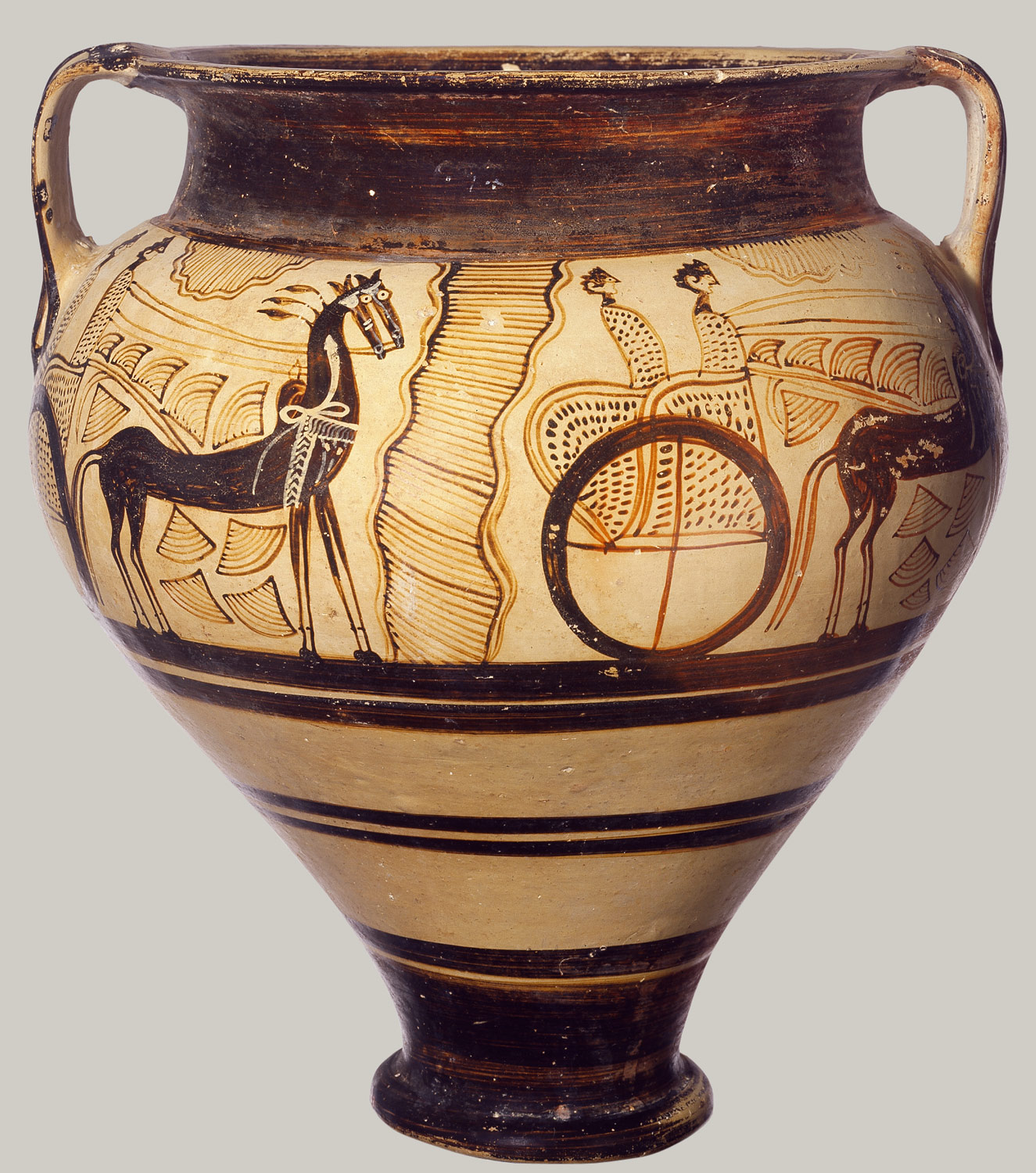 Terracotta chariot krater