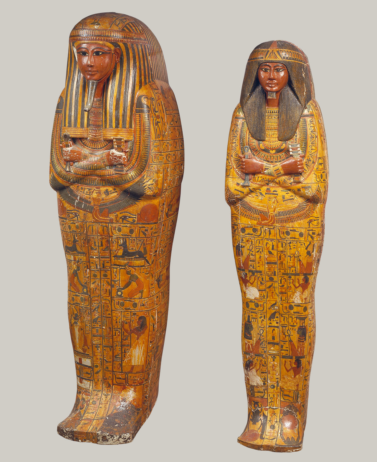 Khonsus anthropoid coffins