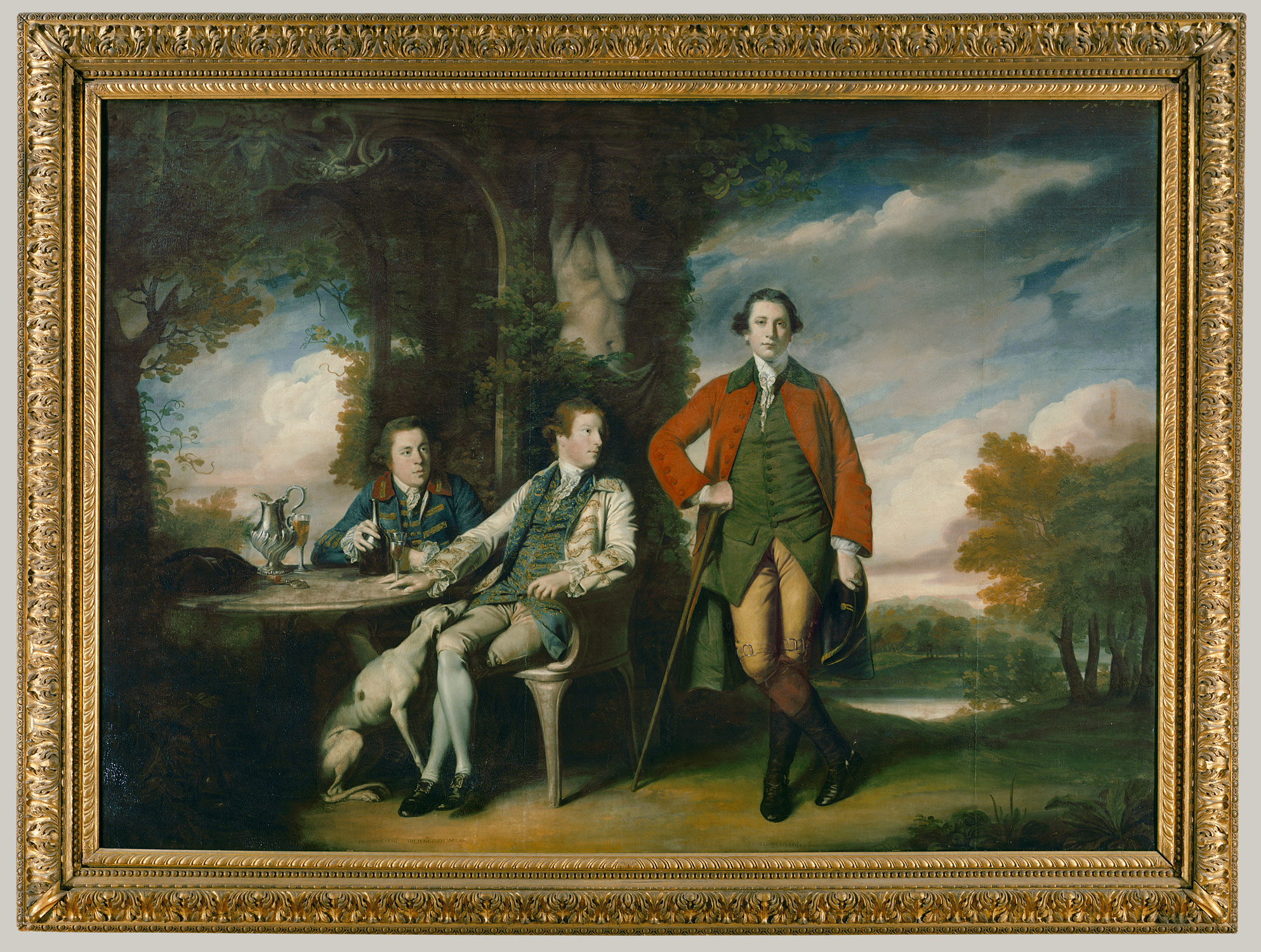 The Honorable Henry Fane (1739-1802) with His Guardians, Inigo Jones and Charles Blair