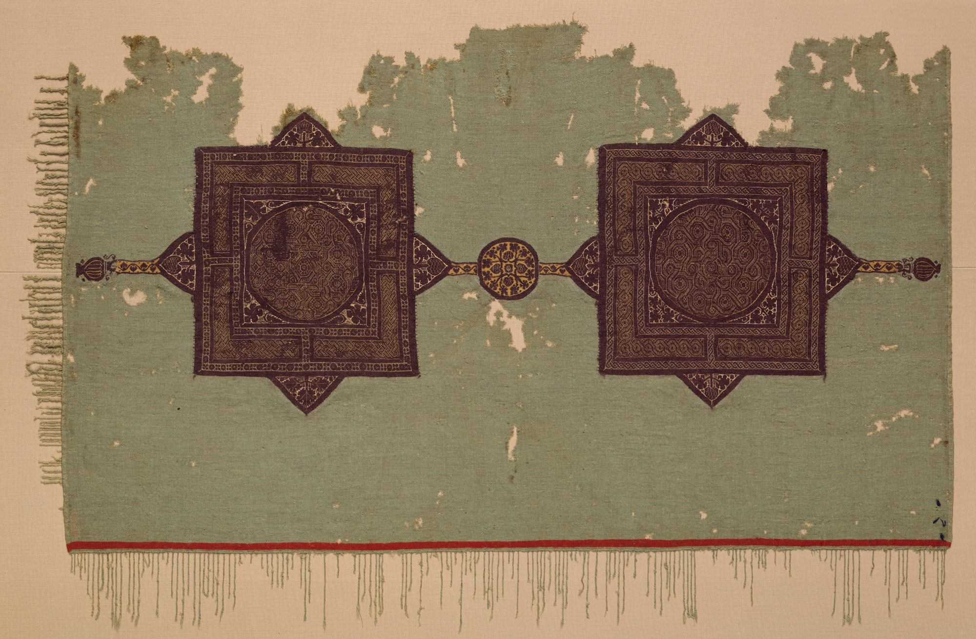 Fragment of a Cover with Geometric and Interlace Decoration