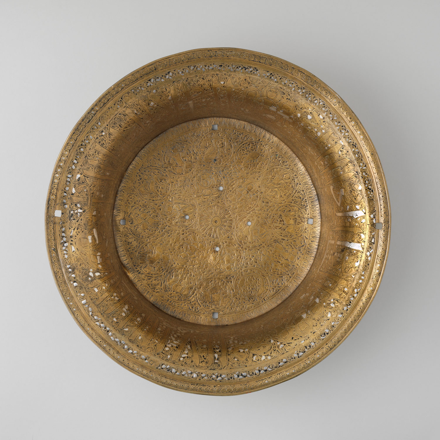 Basin with Zodiac signs and royal titles