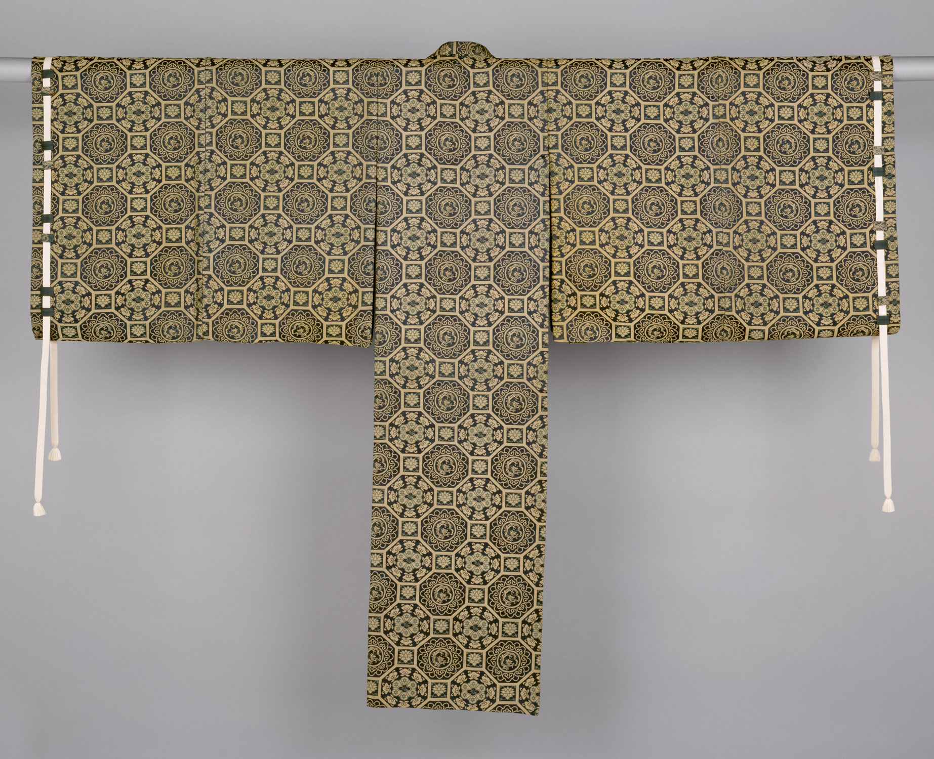 Noh costume (kariginu) with geometric pattern