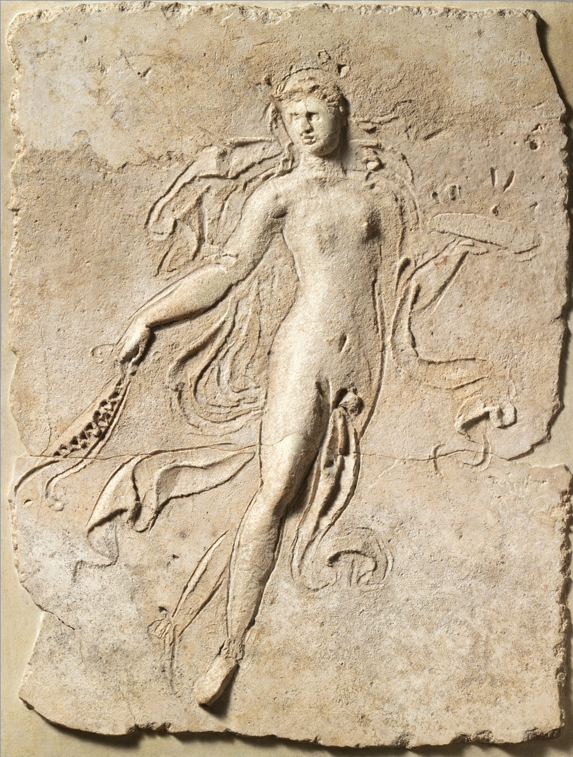 Stucco relief panel