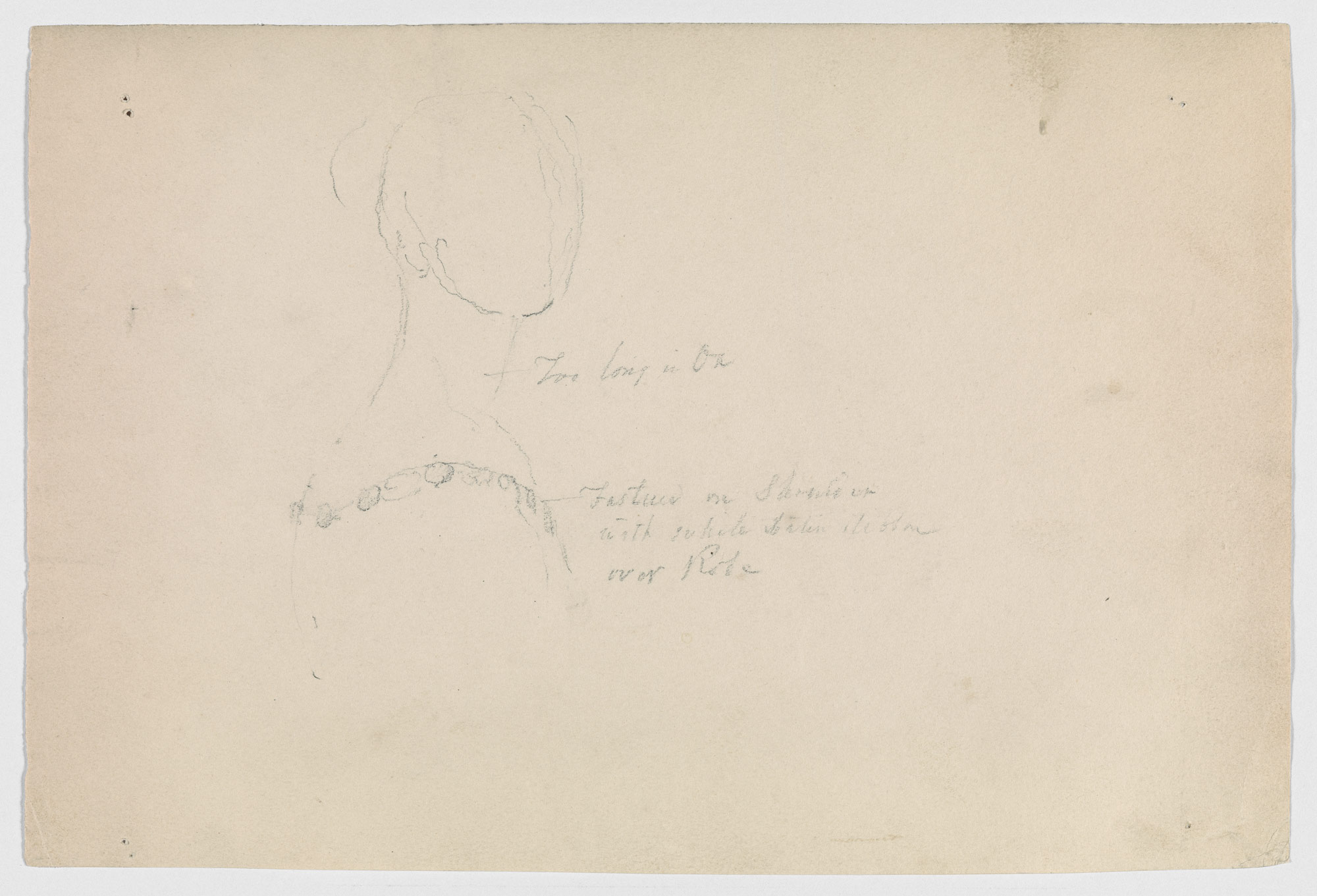 Study of Queen Victorias Neckline (Study for Portrait of Queen Victoria)