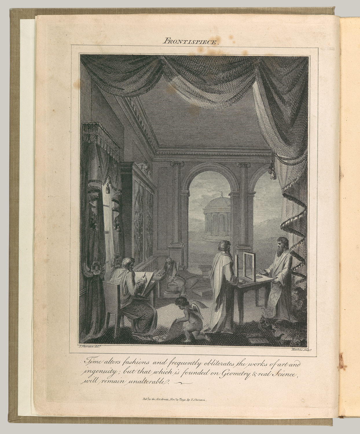 The Cabinet-Maker and Upholsterers Drawing-Book: Frontispiece and title page (vol. 1), plates 33 and 35 (vol. 2)