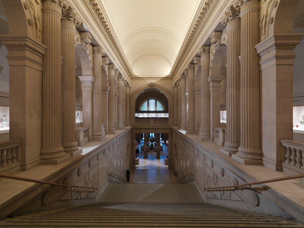 The Metropolitan Museum of Art, Great Hall Staircase; View facing east