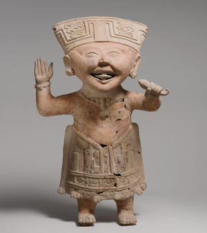 """Smiling"" Figure. Mexico, 7th–8th century."