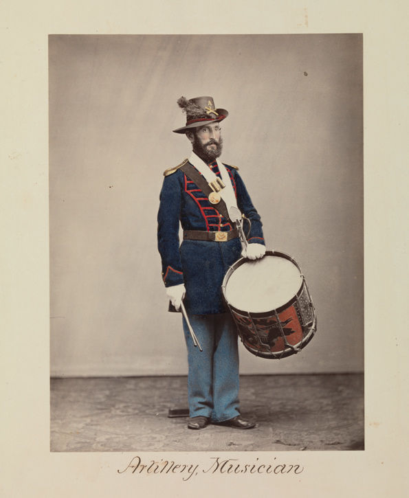 Attributed to Oliver H. Willard (American, active 1850s–70s, died 1875). Artillery, Musician, 1866