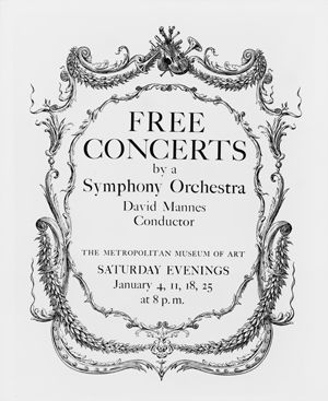 Poster announcing the 1936 Mannes concerts