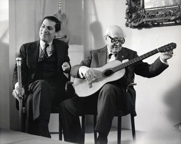 Philippe de Montebello with Andrés Segovia, 1986