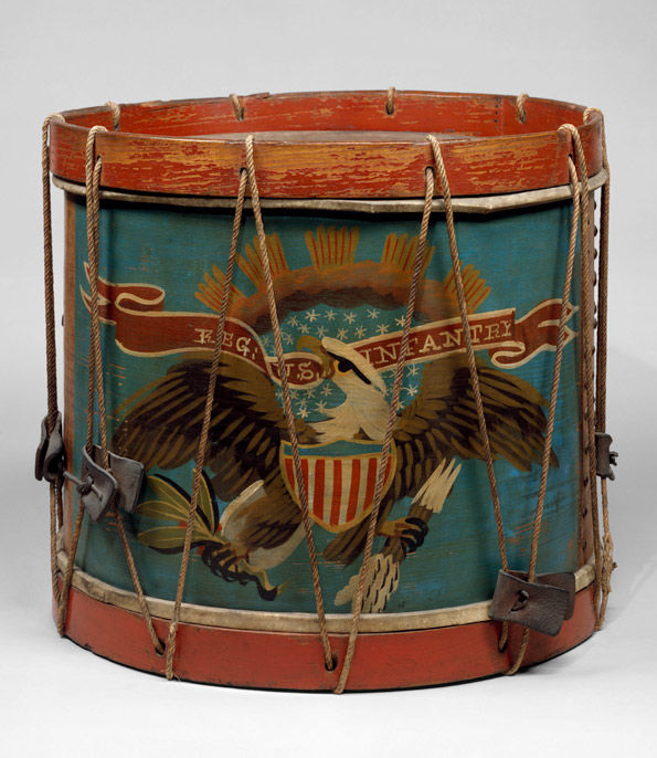 Attributed to Ernest Vogt (American). Side Drum, ca. 1864