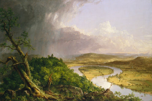 Thomas Cole (American, 1801–1848) | View from Mount Holyoke, Northampton, Massachusetts, after a Thunderstorm—The Oxbow, 1836 | 08.228