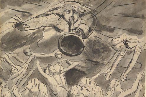 William Blake (1757–1827) | The Last Trumpet (detail) | ca. 1780–85 | 2011.448