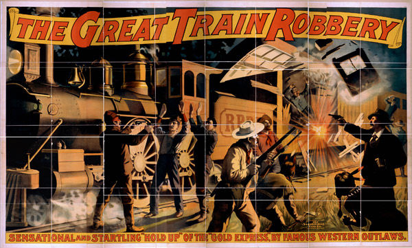 Movie Poster for The Great Train Robbery, ca. 1903