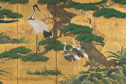 Birds and Flowers of the Four Seasons; Cranes and Flowers of the Four Seasons