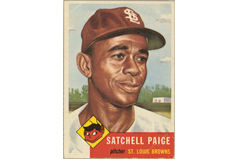 "Leroy Robert ""Satchel"" Paige (Burdick 328, R414-7.219)"