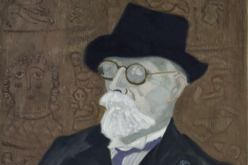 Portrait of Dikran G. Kelekian by Milton Avery (detail)