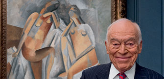 Lauder with Picasso's Two Nudes