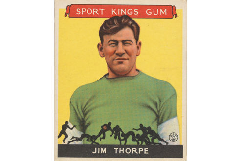 Jim Thorpe football card
