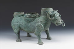 Ritual Wine Container in the Shape of a Buffalo (Xizun) Eastern Zhou dynasty (770–256 B.C.), Spring and Autumn period (770–476 B.C.), early 5th century B.C. Bronze Collection of Shanghai Museum (1056)