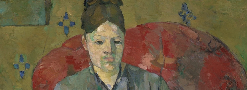 Madame Cézanne in a Red Armchair (detail)