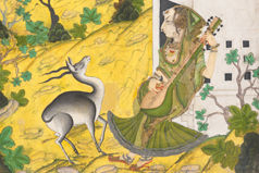A Musician Charms a Mrig (Antelope); folio from a ragamala series (Garland of Musical Modes) (detail)