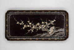 Tray with Flowering Plum and Birds