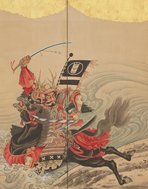 Race at the Uji Bridge (detail), ca. 1760–67