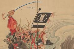Race at the Uji Bridge (detail), ca. 1760–67