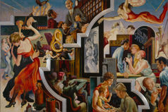 Thomas Hart Benton (American, 1889–1975), City Activities with Dance Hall from America Today, 1930–31