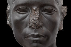 Sculpture of pharaoh's face