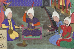 Detail from a folio from the Shahnama of Tahmasp