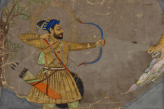 Sultan 'Ali 'Adil Shah II Shooting an Arrow at a Tiger