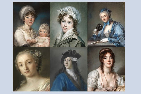 Pastel Portraits: Images of 18th-Century Europe
