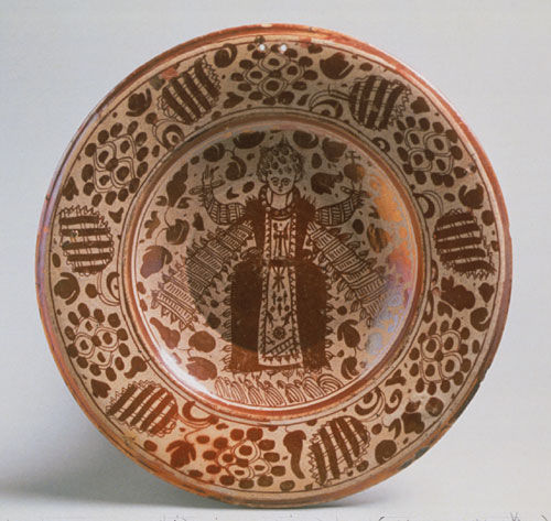 Ceramic Dish with Christ Child in Contemporary Dress